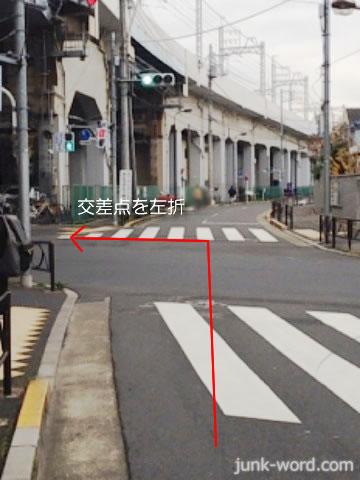 葛飾市役所方面 交差点を左折