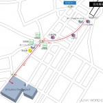 京成青砥駅出口からかつしかシンフォニーヒルズまでの地図
