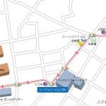 京成青砥駅出口から葛飾区役所までの地図